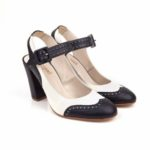 Beyond Skin Delphine Navy and Ivory Shoe