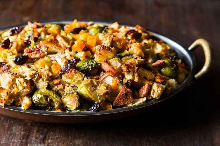butternut-squash-brussels-sprout-and-bread-stuffing-with-apples