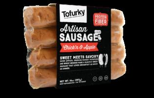 Tofurky Chick'n Apple Sausages