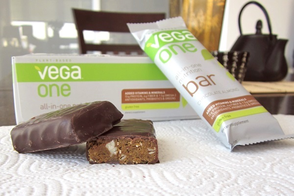 Vega One Bars provide the same amount of nutritious benefits as a full meal. Photo: © GoDairyFree.org